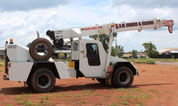 A.M. Cranes and Rigging 15 tonne franna crane hire Kingaroy