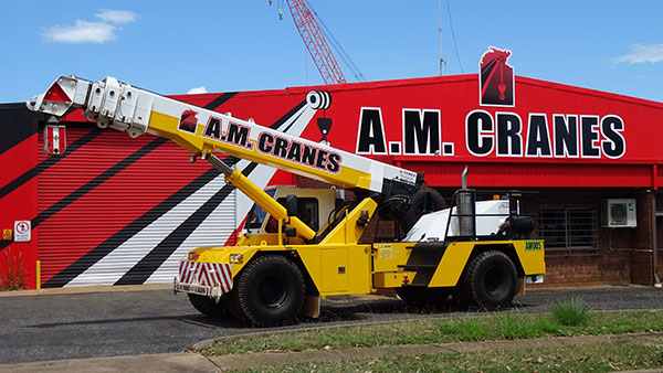 A.M. Cranes and Rigging 20 tonne franna crane hire