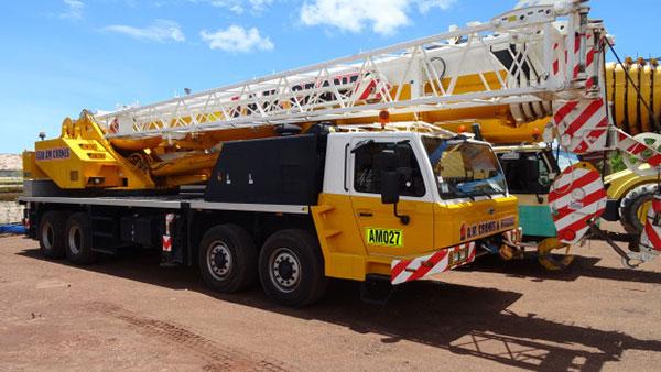 A.M. Cranes and Rigging 60 tonne truck mounted crane hire Darwin