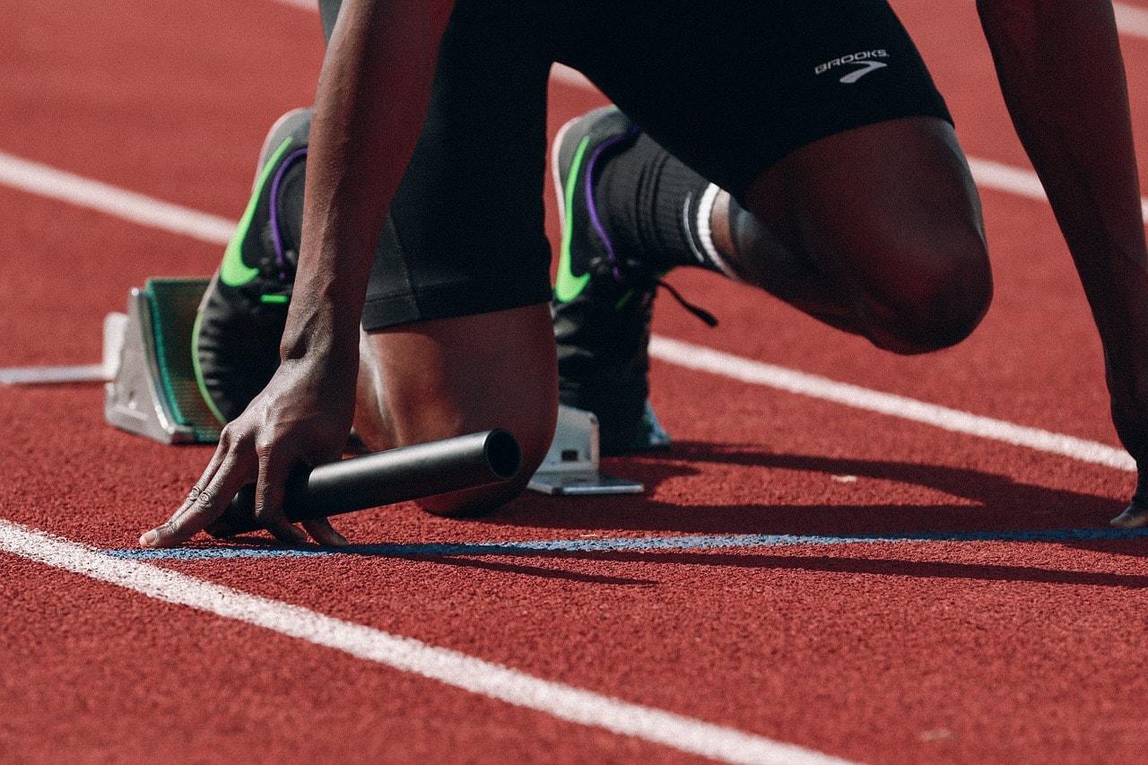 cartoon female runner