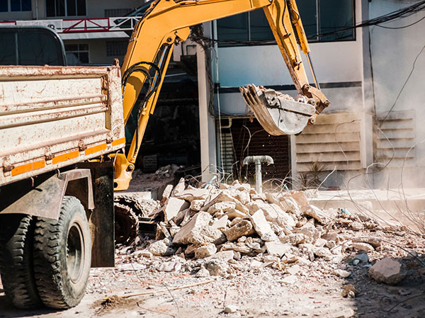 Attcall Civil Contractors Demolition Services for Batemans Bay and Newcastle with Tipper Truck and Excavators