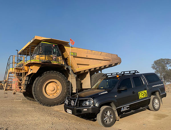 Australian Earth Training dump truck and mine spec vehicle