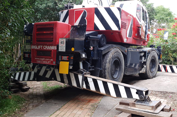 All Terrain Crane on Residential Project