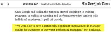 Cómo ser líder - resultados de Google en el New York Times