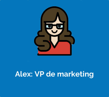 Alex: VP de marketing