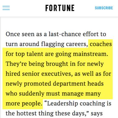 El cambio de usar coaching ejecutivo para los mejores profesionales no solo los peores