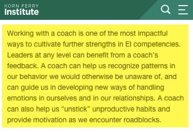 Trabajando con un coach es impactante y clave para desarrollar fortalezas