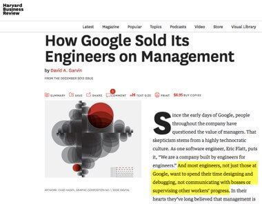 How Google Sold It's Engineers on Management