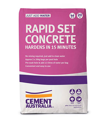 Cre8tive Landscaping Supplies Rapid Set for sale – 20kg