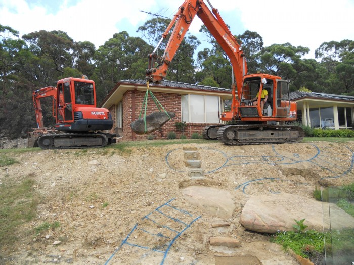 earthscape tight access excavation glenorie bushland pool construction