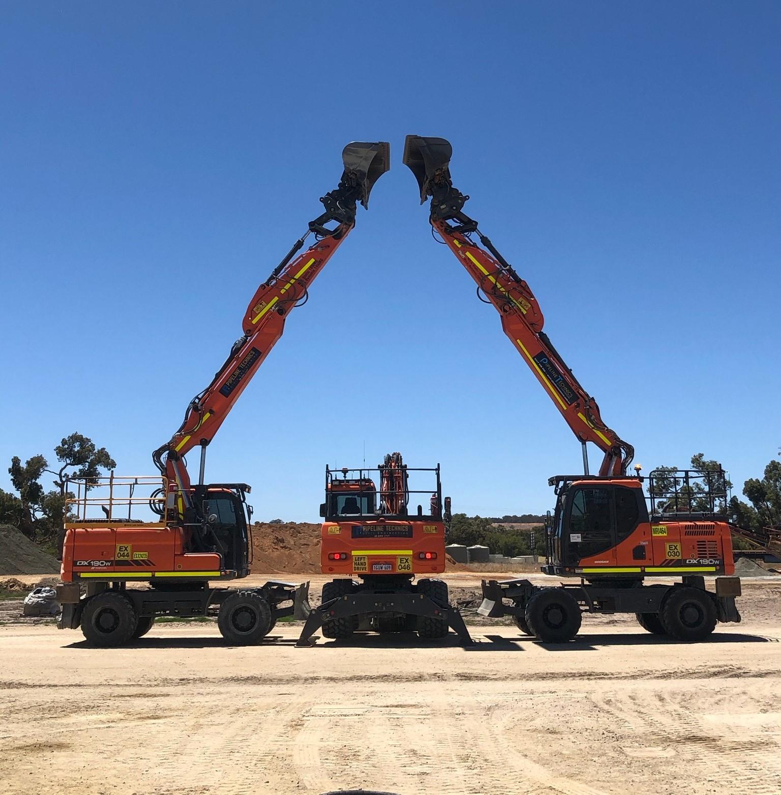 Pipeline-Technics-Doosan-DX340-LC-Excavator-Mullaloo