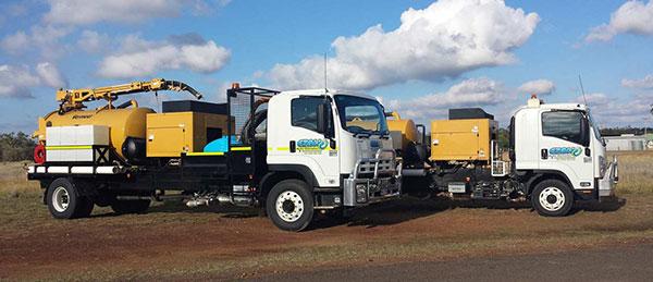 Ezali Hydro Excavations & Communications hydro excavation vacuum trucks onsite Toowoomba