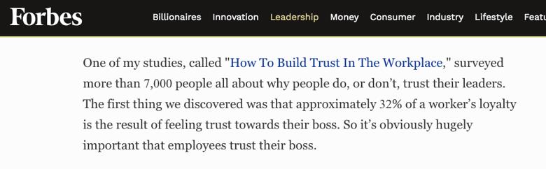 forbes - como construir lealtad en sus colaboradores
