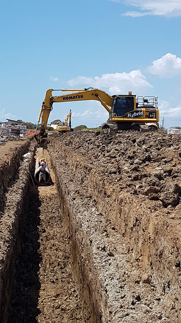 hawe-earthmoving-projects-Stomwater-installation-Palmlake-Resort-Bargara-Stage-8-bundaberg