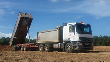Hawe Earthmoving Truck and Dog Hire Bundaberg