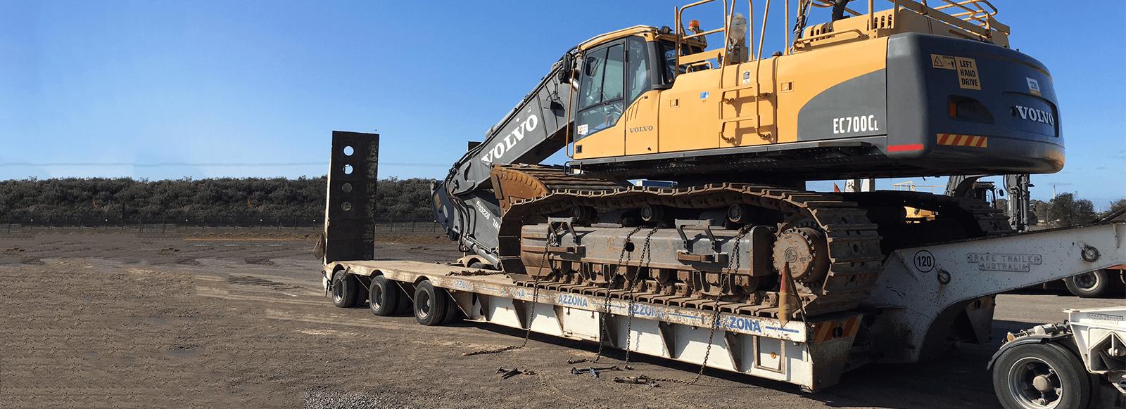Paulls Construction Equipment Excavatpn float