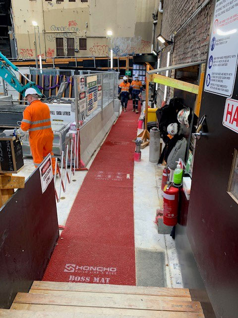 Honcho Boss Mat inside Melbourne Cross Yara Tunnel