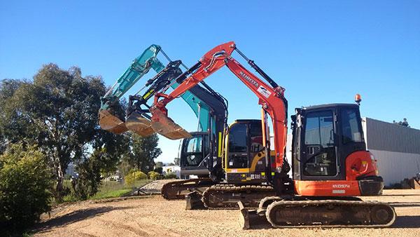 Hume Hire fleet all plant hire Lavington