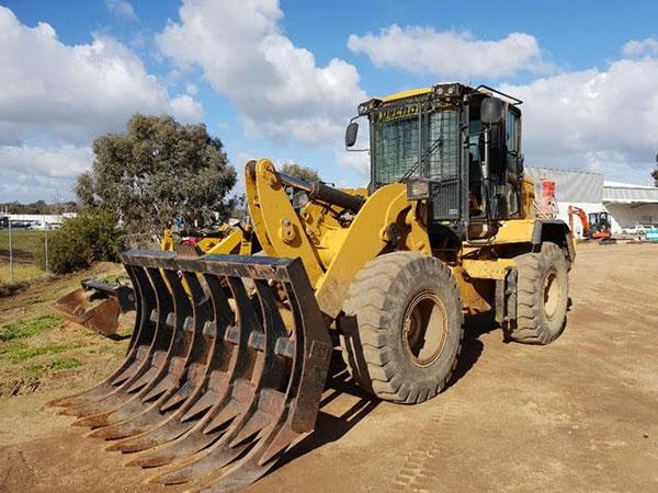 Hume Hire CAT Bobcat site cleaning lavington