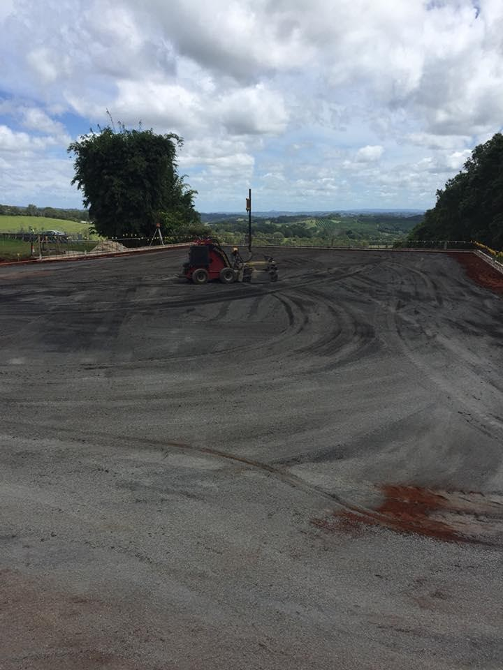 Tennis Court Site Preparation
