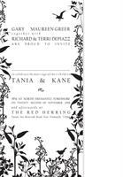 Tania and Kane invitation