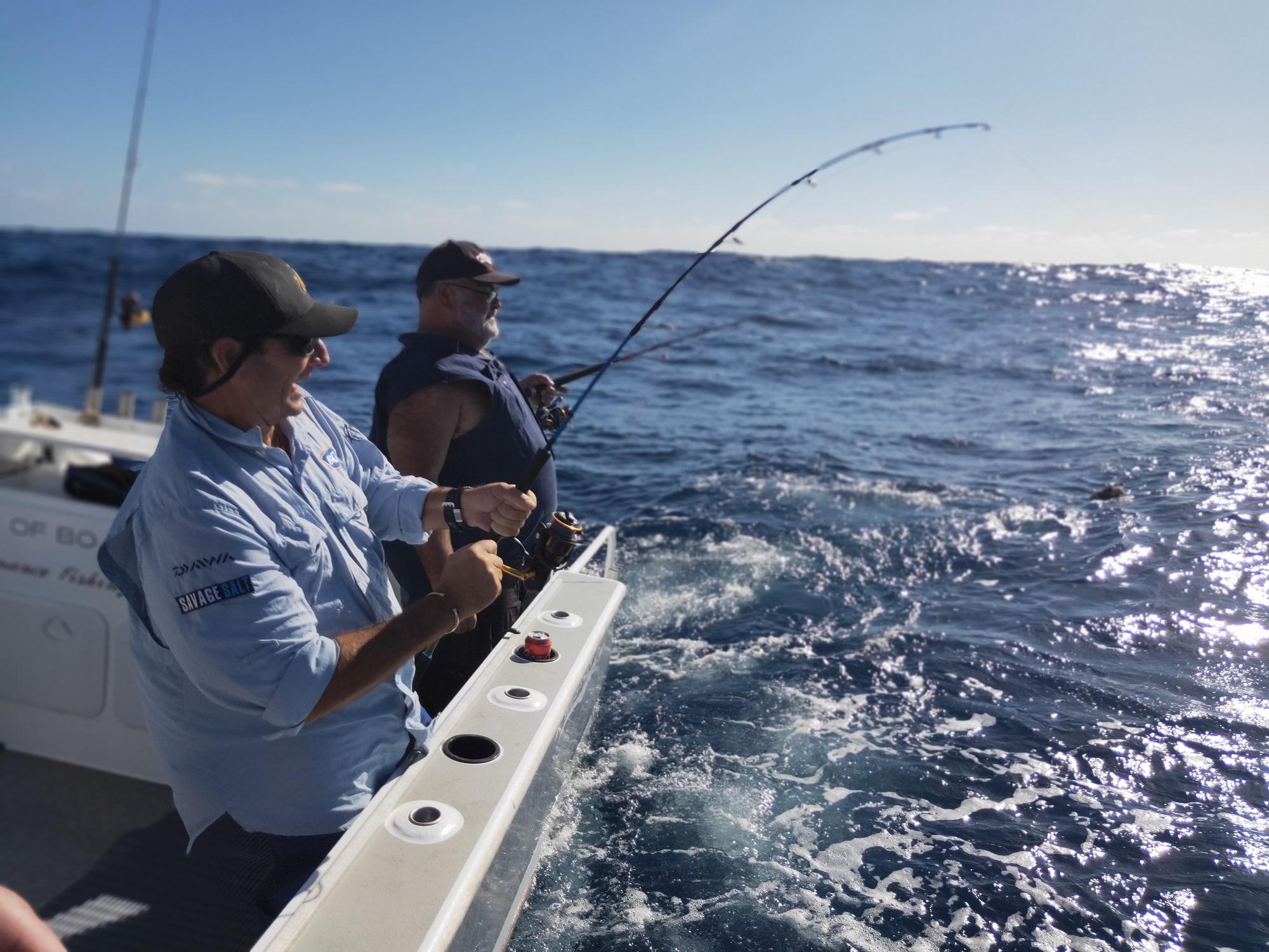 Fishing charter on Lady Flo II
