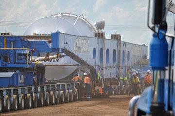 lampson-crane-hydraulic-platform-trailers-hire-toronto