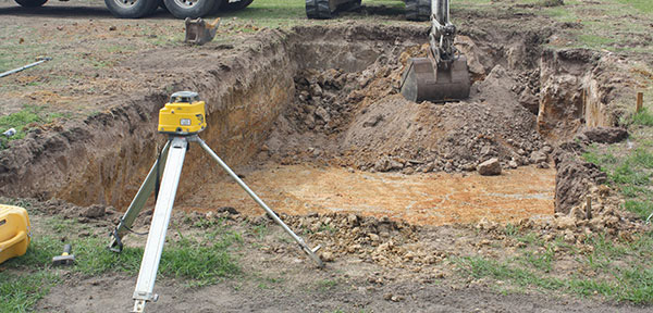 Latrobe Excavations Excavator with Site Levelling Laser Attachment
