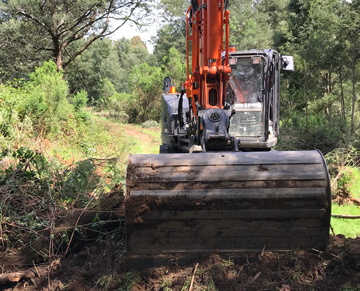 Latrobe Excavations Excavator Hire Land Clearing Project Latrobe Valley