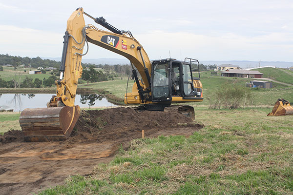 Latrobe Excavations Horse Manege and Arena Construction with Excavator