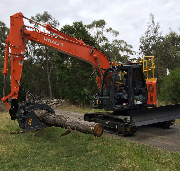 Latrobe Excavations Land Clearing Tipper Truck and Excavator for Hire in Rosedale