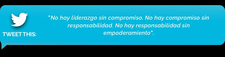 tweet - Numero 10: Crear responsabilidad y compromiso