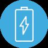 Amayaco equipos de alto desempeño con icono de bateria cargando