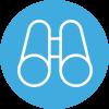 Amayaco planeacion estrategica con icono de prismaticos