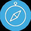Amayaco academia de liderazgo con icono de compas