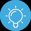 Amayaco innovation challenge con icono de bombilla