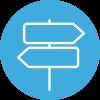 Amayaco coaching de equipos con icono de señalizar