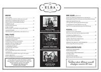Elba Restaurant menu