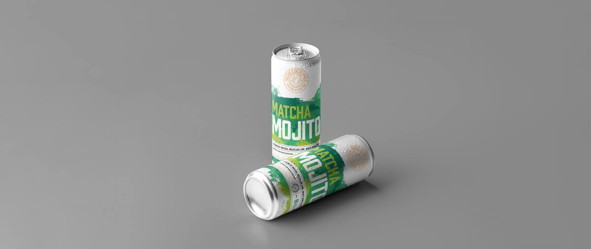 Matcha Mojito Cocktail in a can, made with all natural ingredients