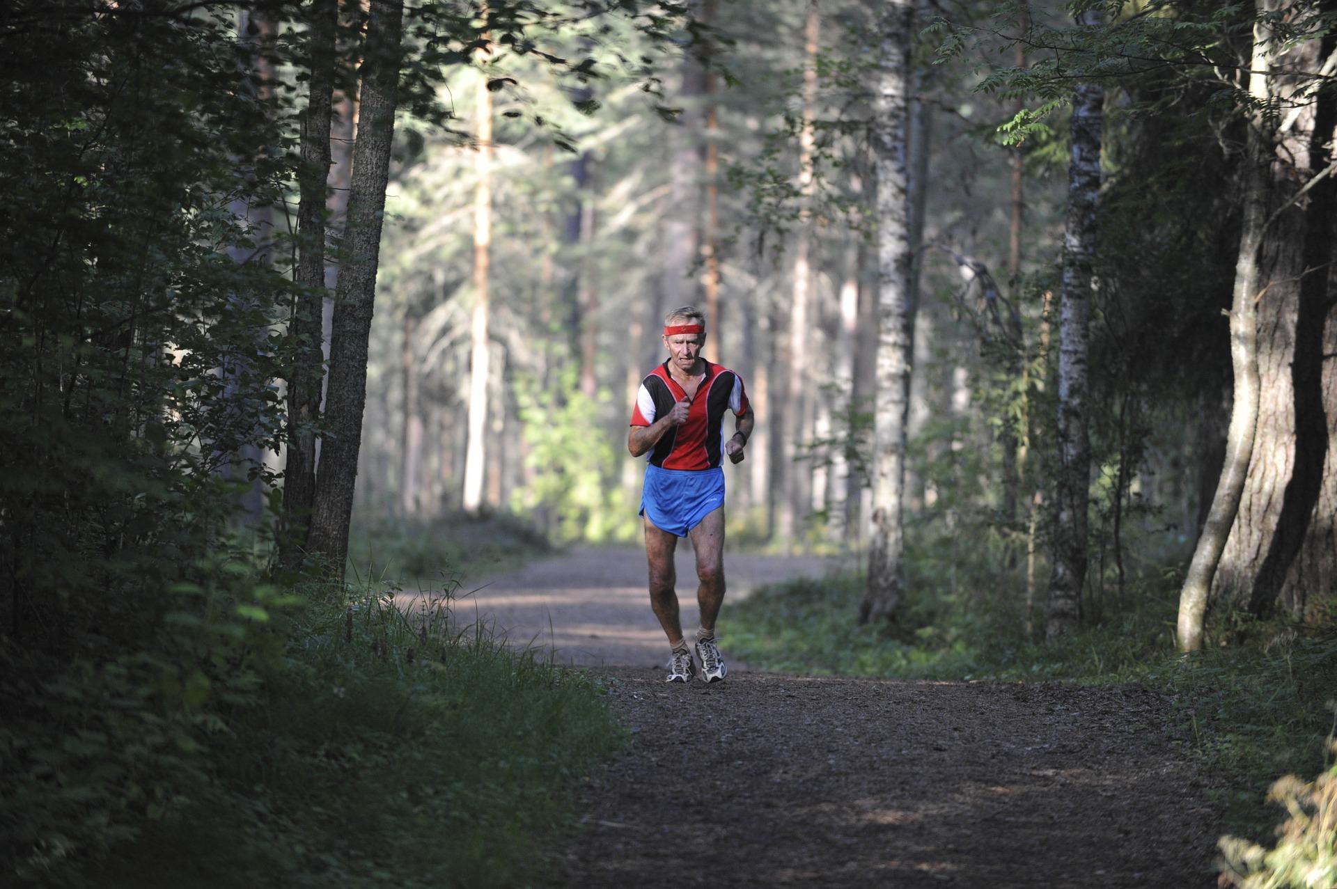 Older Man Running
