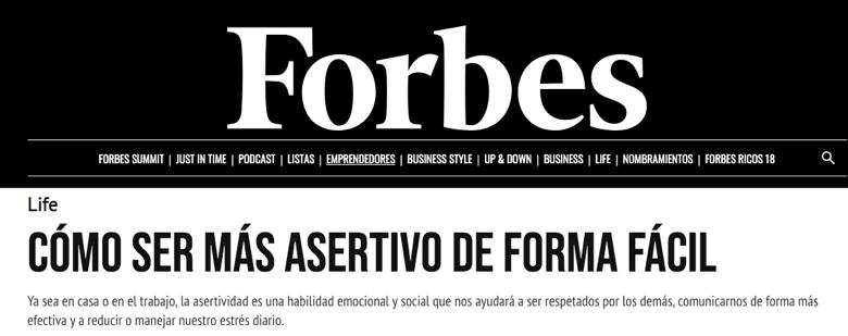 Cómo ser más asertivo de forma fácil de la revista Forbes