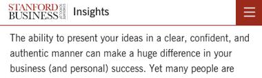 La habilidad de comunicar tus ideas es clave según la revista de Stanford Escuela de Negocios