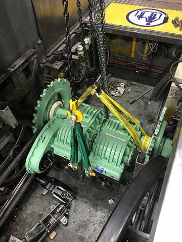 precise-rigging-escalator-motor-maintence