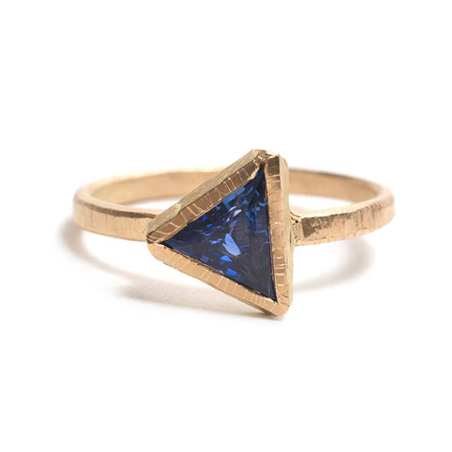 Tessa Blazey | Ceylon sapphire & 18ct yellow gold | | Unique handmade engagement ring | Melbourne | bespoke ring