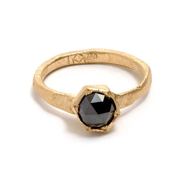 Tessa Blazey | Rose cut black diamond & 18ct white gold | | Unique handmade engagement ring | Melbourne | bespoke ring