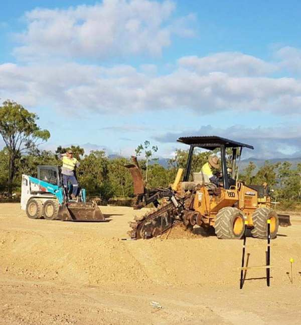 professional excavations trencher hire cairns townsville