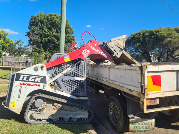 professional excavations plant hire and services skid steer loader for hire