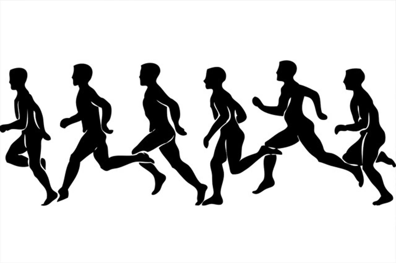 fast runner sillhouette