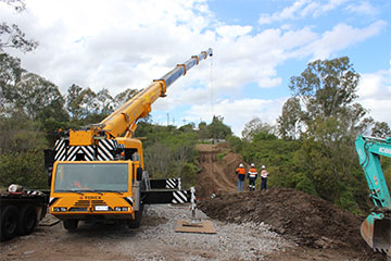 Scope Cranes & Logistics 100 tonne all terrain crane Geelong
