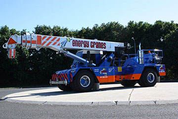 Scope Cranes & Logistics 25 tonne crane Geelong